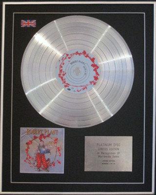 ROBERT PLANT -Ltd Edition CD Platinum Disc- BAND OF JOY