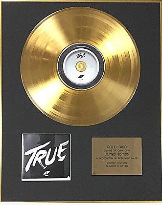 Avicii - Exclusive Limited Edition 24 Carat Gold Disc - True