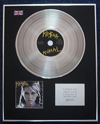 Kesha - Limited Edition CD Platinum LP Disc - Animal