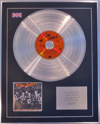 THE SAW DOCTORS - Limited Edition CD Platinum Disc - IF THIS IS ROCK AND ROLL