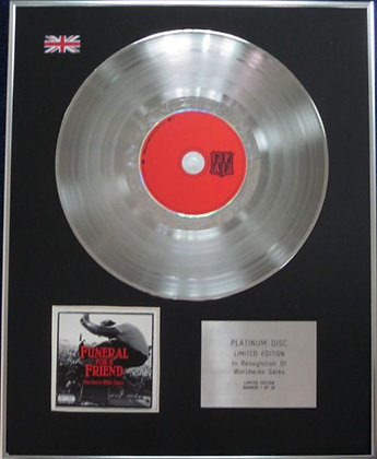 FUNERAL FOR A FRIEND - Limited Edition CD Platinum Disc - THE GREAT WIDE OPEN