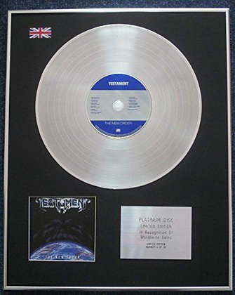 TESTAMENT - Limited Edition CD Platinum LP Disc - THE NEW ORDER