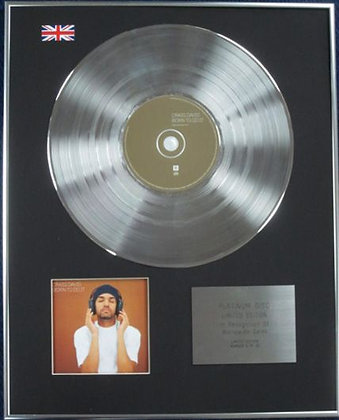 CRAIG DAVID - Limited Edition CD Platinum Disc - BURN TO DO IT
