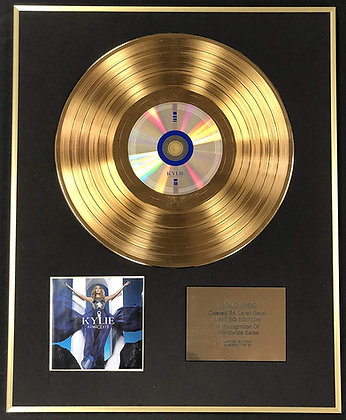 Kylie Minogue - Exclusive Limited Edition 24 Carat Gold Disc - Aphrodite