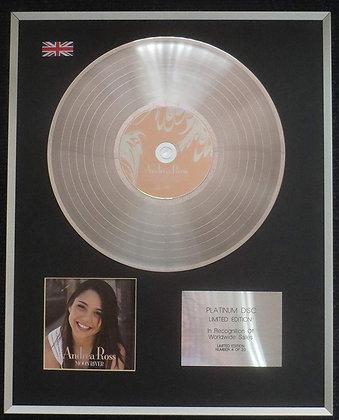Andrea Ross - Limited Edition CD Platinum LP Disc - Moon River