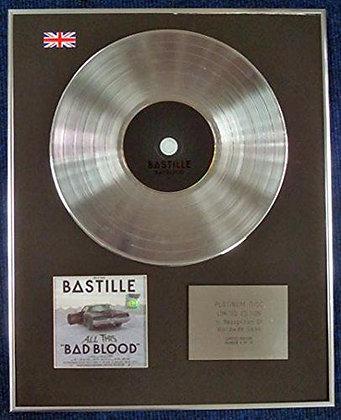 BASTILLE - Limited Edition CD Platinum LP Disc - BAD BLOOD