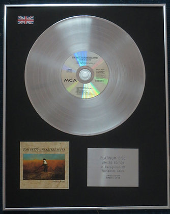 TOM PETTY - Limited Edition CD Platinum LP Disc - SOUTHERN ACCENTS