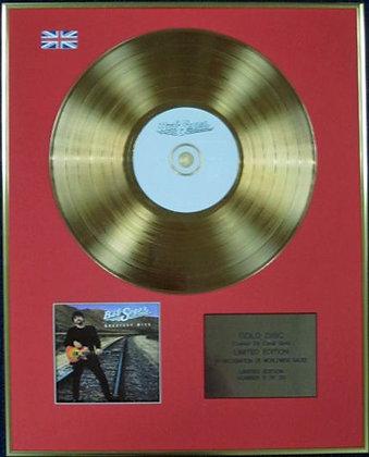 BOB SEGER. - Ltd Edition CD 24 Carat Coated Gold Disc - GREATEST HITS