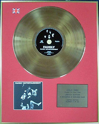FAMILY - Ltd Edition CD 24 Carat Coated Gold Disc - FAMILY ENTERTAINMENT
