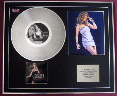 CELINE DION - CD Platinum Disc+Photo- THE CONCERT (Taking Chances World Tour)