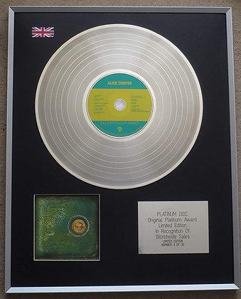ALICE COOPER - Limited Edition CD Platinum LP Disc - MILLION DOLLAR BABIES