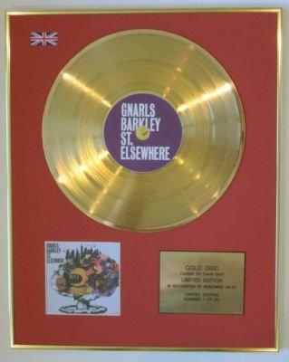 GNARLS BARKLEY - Ltd Edtn CD Gold Disc - ST ELSEWHERE