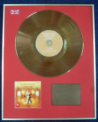 ANDRE RIEU - Limited Edition CD 24 Carat Gold Coated LP Disc - FOREVER VIENNA