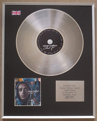 DERMOT KENNEDY – Limited Edition CD Platinum Disc – WITHOUT FEAR