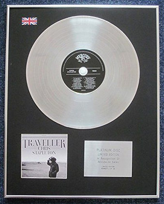 Chris Stapleton - Limited Edition CD Platinum LP Disc - Traveller