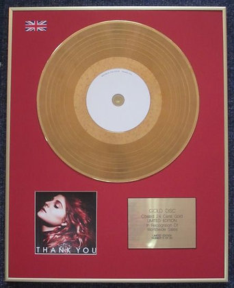 MEGHAN TRAINOR - Limited Edition CD 24 Carat Gold Coated LP Disc - THANK YOU
