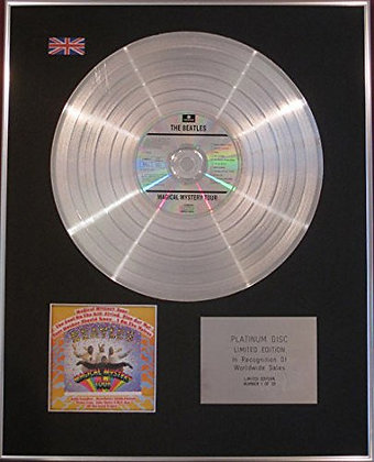 THE BEATLES - Limited Edition CD Platinum Disc - MAGICAL MYSTERY TOUR