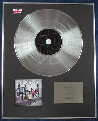 SATURDAYS - Limited Edition CD Platinum Disc - CHASING LIGHTS