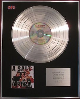 SALT-N-PEPA - CD Platinum Disc - A SALT WITH A DEADLY PEPA
