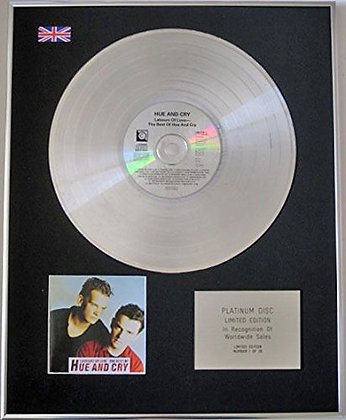 HUE AND CRY - CD Platinum Disc - LABOURS OF LOVE, THE BEST