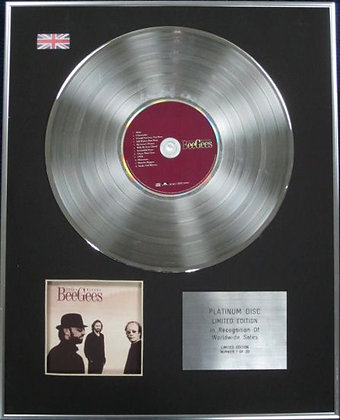 BEE GEES - Limited Edition CD Platinum Disc - STILL WATERS