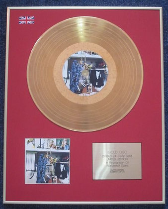 BRIAN ENO - 24 Carat Gold Coated LP Disc - HERE COMES THE WARM JETS
