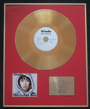 Utada Hikaru - Limited Edition CD 24 Carat Gold Coated LP Disc - This Is The One