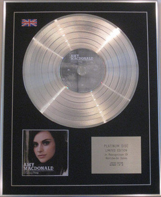 AMY MACDONALD - Limited Edition CD Platinum Disc - A CURIOUS THING