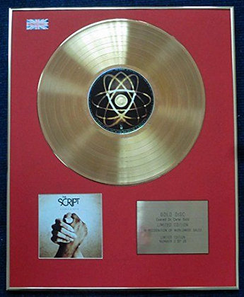 """The Script - Limited Edition CD 24 Carat Gold Coated LP Disc - """"The Script"""""""