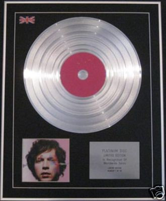 BECK - Ltd Edition CD Platinum Disc - SEA CHANGE