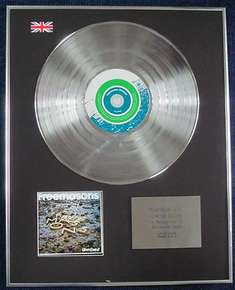 FREEMASONS - Limited Edition CD Platinum Disc - UNMIXED