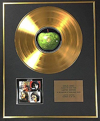 The Beatles - Exclusive Limited Edition 24 Carat Gold Disc - let it Be