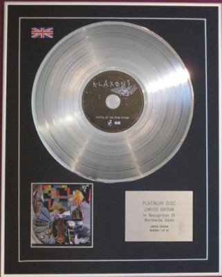 KLAXONS - CD Platinum Disc - MYTHS OF THE NEAR FUTURE