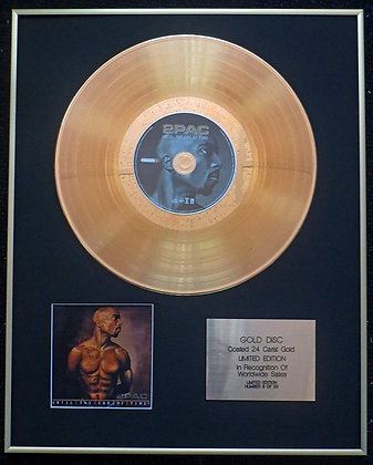 2Pac (Tupac Shakur) - Exclusive Limited Edition 24 Carat Gold Disc - Until the E