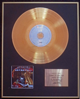 Avenged Sevenfold - Exclusive Limited Edition 24 Carat Gold Disc - City of Evil