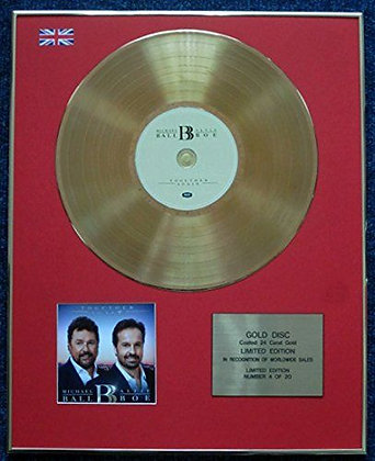 Alfie Boe and Michael Ball -CD 24 Carat Gold Coated LP Disc - Together Again