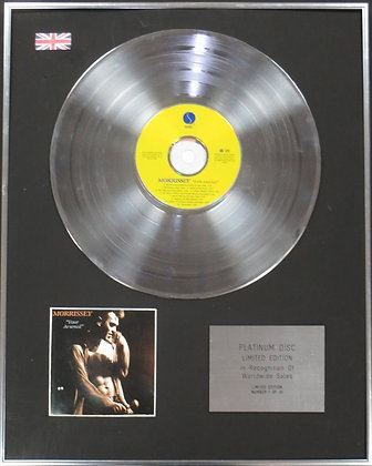 MORRISSEY - Limited Edition CD Platinum Disc - YOUR ARSENAL