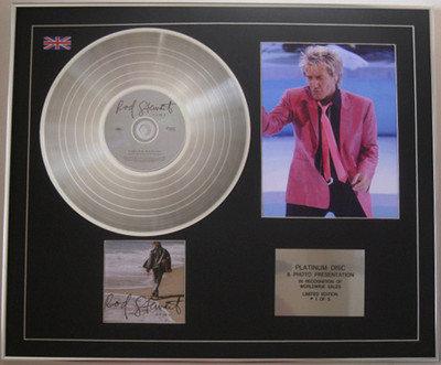 ROD STEWART - Limited Edition Platinum Disc + Photo - TIME