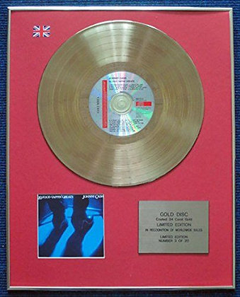 Johnny Cash - LTD Edition CD 24 Carat Gold Coated LP Disc - 20 Foot tappin…