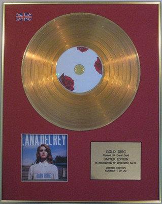 LANA DEL REY - Ltd Edition CD 24 Carat Gold Disc  - BORN TO DIE