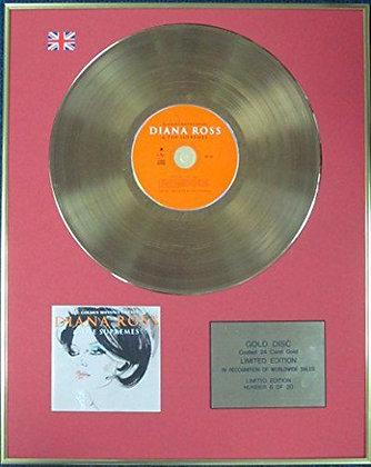 DIANA ROSS & SUPREMES - Ltd Edition CD 24 Carat Coated Gold Disc - 40 GOLDEN…