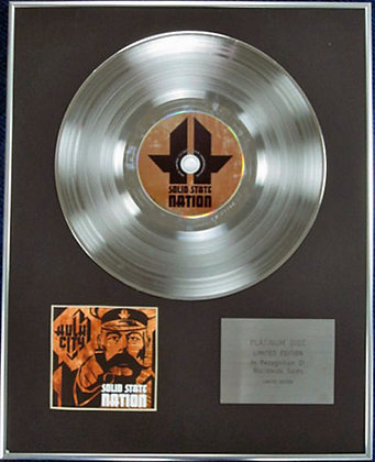 HULK CITY - Limited Edition CD Platinum Disc - SOLID STATE NATION
