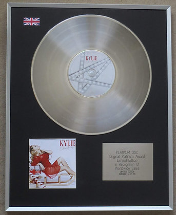 KYLIE MINOGUE – Limited Edition CD Platinum Disc – KYLIE CHRISTMAS
