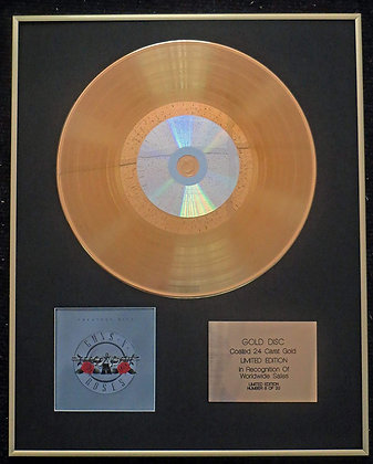 Guns N' Roses - Exclusive Limited Edition 24 Carat Gold Disc - Greatest Hits