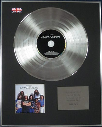 LYNYRD SKYNRD - Limited Edition CD Platinum Disc - CLASSIC