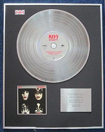 Kiss - Limited Edition CD Platinum LP Disc - Dynasty