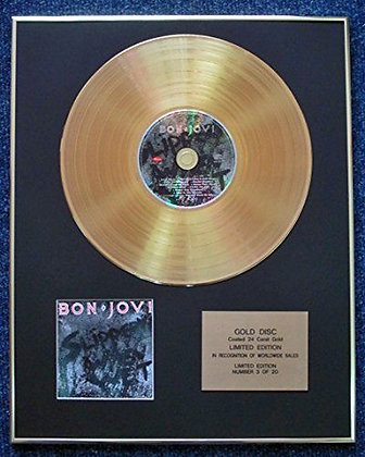 Bon Jovi - Limited Edition CD 24 Carat Gold Coated LP Disc - Slippery When Wet