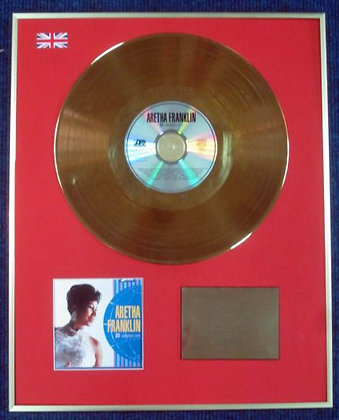 ARETHA FRANKLIN - CD 24 Carat Gold Coated LP Disc - 20 GREATEST HITS