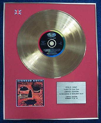 Crowded House - Limited Edition CD 24 Carat Gold Coated LP Disc - Woodface