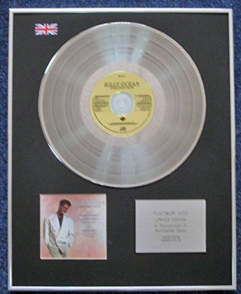 Billy Ocean - Limited Edition CD Platinum LP Disc - Greatest Hits